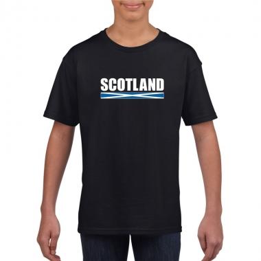 Zwart schotland supporter t-shirt voor kinderen