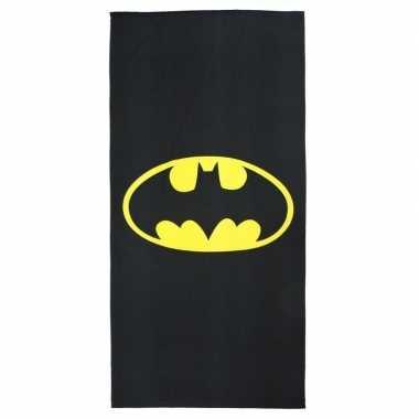 Zwarte batman strandlaken/badlaken voor jongens