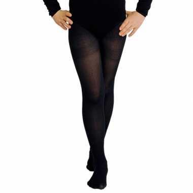 Zwarte verkleed panty/maillot voor meisjes/kinderen