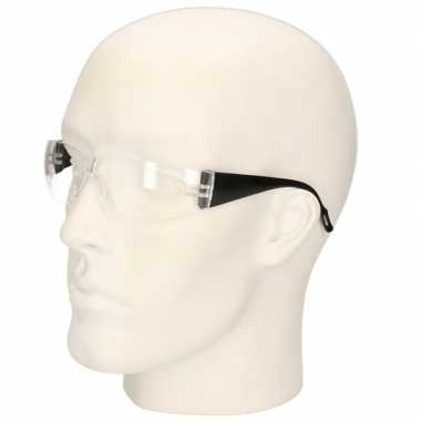 Zwarte vuurwerkbril/veiligheidsbril voor kinderen