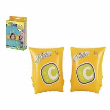 Zwembandjes geel voor kinderen 26 cm