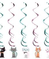 10x katten poezen thema rotorspiralen hangdecoratie