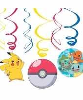 12x pokemon themafeest rotorspiralen hangdecoratie