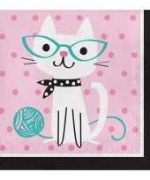 16x katten servetten
