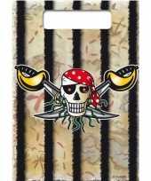 16x piraten thema verjaardag feestzakjes