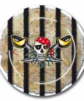 16x piraten themafeest bordjes 23 cm