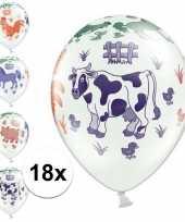 18x boerderij dieren thema verjaardag ballonnen