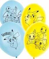 18x stuks pokemon thema feest verjaardag ballonnen 28 cm