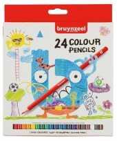 24x bruynzeel kleurpotloden voor kinderen