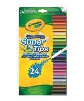 24x crayola viltstiften met superpunt voor kinderen