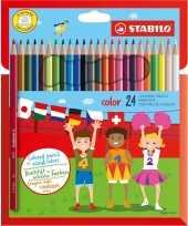 24x stabilo kleurpotloden voor kinderen