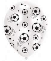 24x stuks voetbal thema ballonnen
