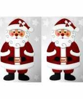 2x kerst raamversiering raamstickers kerstman 28 5 x 40 cm