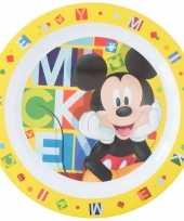 2x stuks disney mickey mouse ontbijtbordjes 22 cm voor kinderen