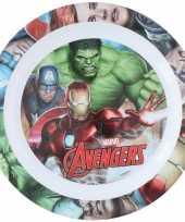 2x stuks marvel avengers ontbijtbordje 22 cm voor kinderen
