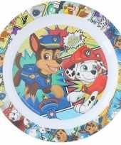 2x stuks nickelodeon paw patrol ontbijtbordjes 22 cm voor kinderen