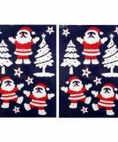 2x velletje kerst raamversiering kerstmannetjes raamstickers 28 5 x 40 cm