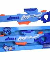 2x waterpistolen waterpistool blauw van 77 cm kinderspeelgoed