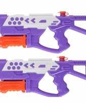 2x waterpistolen waterpistool van 42 cm kinderspeelgoed