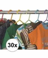 30x plastic kinder kledinghangers 10155960