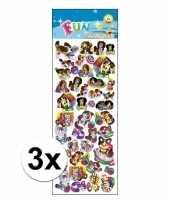 3x stickervel animatie honden en katten