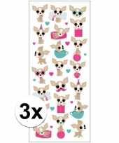 3x stickervel chihuahua