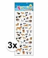 3x stickervel honden 10110465