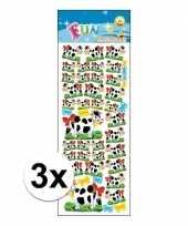 3x stickervel koeien