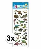 3x stickervel reptielen