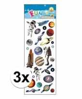 3x stickervel ruimtevaart