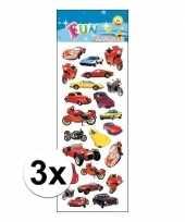 3x stickervel voertuigen