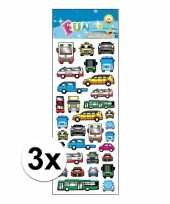 3x stickervellen bus en auto