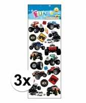 3x stickervellen monstertrucks