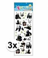 3x stickervellen pandaberen