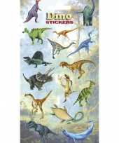 3x vellen dinosaurus kinder stickertjes