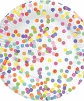 40x confetti thema feest borden van karton 23 cm