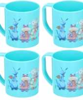 4x doc mc stuffins disney mokken onbreekbare drinkbekers blauw