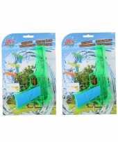 5x waterpistolen waterpistool groen van 18 cm kinderspeelgoed