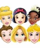 6x disney prinsessen verkleed maskers