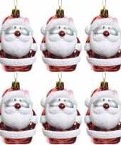6x kersthangers figuurtjes kerstman 8 cm