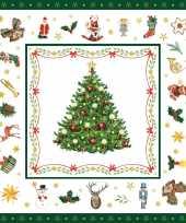 80x kerst thema servetten met kerstfiguren kerst plaatjes 33 x 33 cm