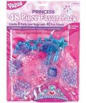 8x prinsessen themafeest uitdeelzakjes met cadeautjes