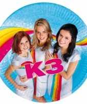 8x stuks k3 thema kinderfeestje feest bordjes