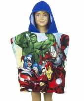 Avengers badcape blauw voor kinderen