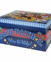 Blauwe opbergbox opbergdoos paw patrol 49 cm