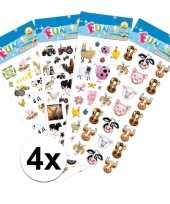 Boerderij thema kinder stickers pakket