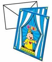Bumba kinderfeestje uitnodigingen 8 stuks