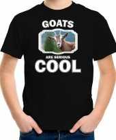 Dieren geit t-shirt zwart kinderen goats are cool shirt jongens en meisjes