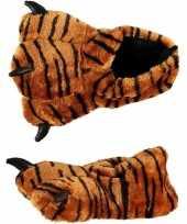 Dierenpoot sloffen tijger voor kinderen