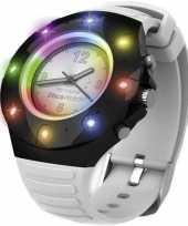 Disco horloge voor kinderen volwassenen wit bandje